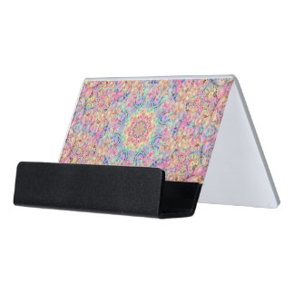 Hippie Vintage Kaleidoscope  Business Card Holder