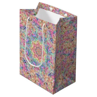 Hippie  Vintage Kaleidoscope Medium Gift Bag