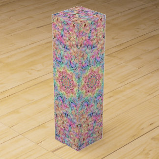 Hippie Vintage Kaleidoscope Wine Gift Box