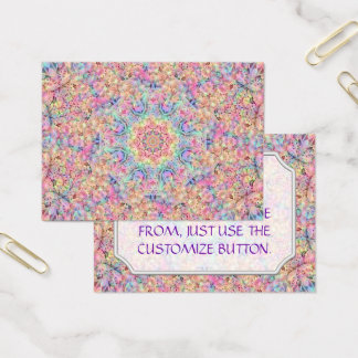 Hippie Vintage Pattern  Business Cards