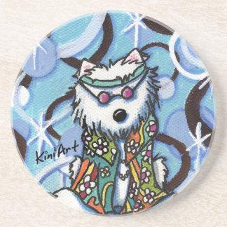 Hippie Westie Dog Coaster