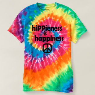Hippieness Is Happieness Tie Dye Tee Ladies
