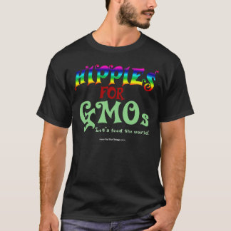 Hippies For GMOs Dark T-shirt