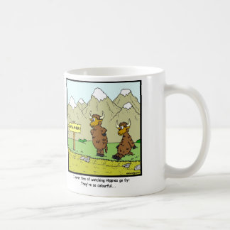 Hippies: Yak cartoon Coffee Mug