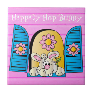 Hippity Hop Bunny Window Tile