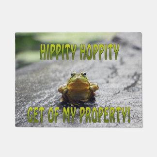 Hippity Hoppity Get Off My Property Door Mat