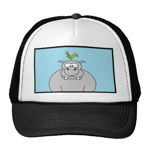 Hippo and Bird Hat