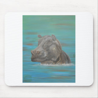 Hippo and Frog, Hippopotamus Mouse Pad
