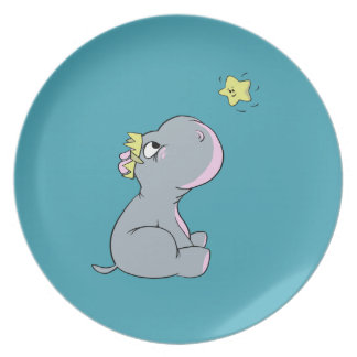 Hippo and Star! Plate