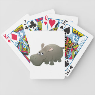 Hippo Animal Cartoon Character Bicycle Playing Cards