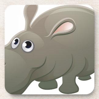 Hippo Animal Cartoon Character Coaster