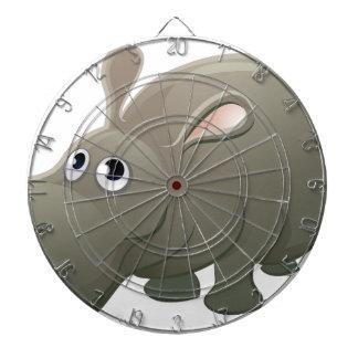 Hippo Animal Cartoon Character Dartboard