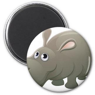 Hippo Animal Cartoon Character Magnet