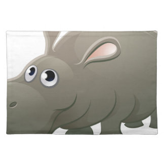 Hippo Animal Cartoon Character Placemat