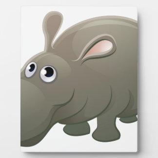 Hippo Animal Cartoon Character Plaque