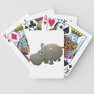 Hippo Animal Cartoon Character Poker Deck