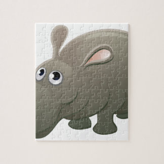 Hippo Animal Cartoon Character Puzzles