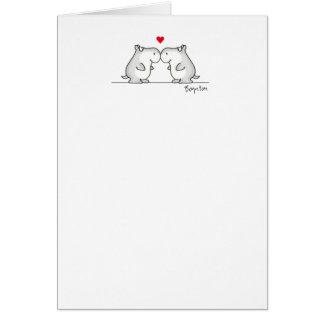 HIPPO ANNIVERSARY CARD