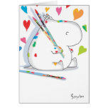 HIPPO ARTIST Love Greeting Card