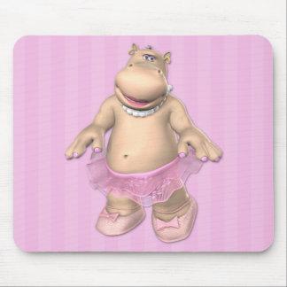 Hippo Ballerina Mousepad