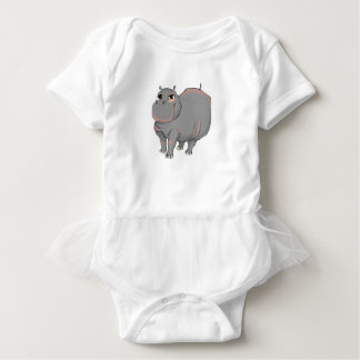 Hippo ballet shoe baby bodysuit