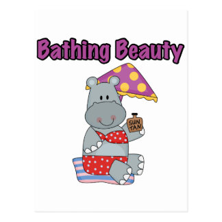 Hippo Bathing Beauty T-shirts and Gifts Postcard