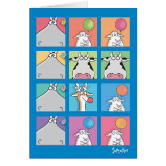 HIPPO BIRDIE FACES CARD
