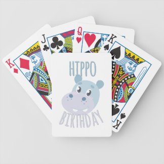 Hippo Birthday Bicycle Playing Cards
