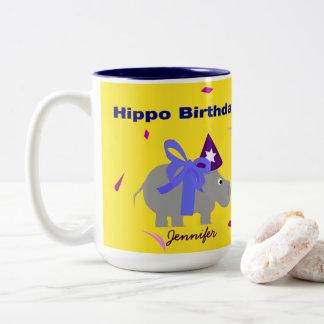Hippo Birthday Mug Personalized