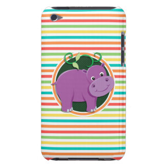Hippo Bright Rainbow Stripes iPod Touch Cover