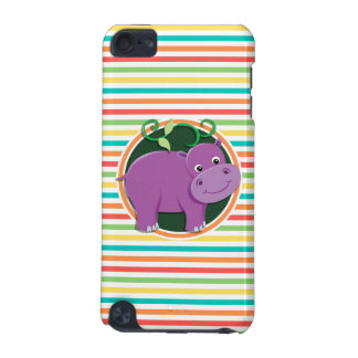Hippo Bright Rainbow Stripes iPod Touch 5G Cases