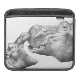 Hippo & Calf Rickshaw Sleeve Sleeves For iPads
