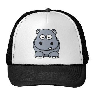 Hippo cartoon mesh hat