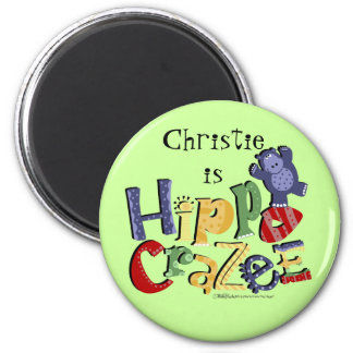 Hippo Crazee (on light colors) Magnet
