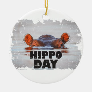 Hippo Day - 15th February - Appreciation Day Ceramic Ornament