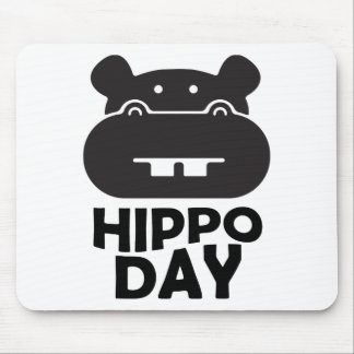 Hippo Day - 15th February Mouse Pad