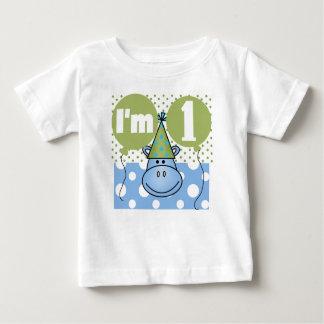 Hippo First Birthday Baby T-Shirt