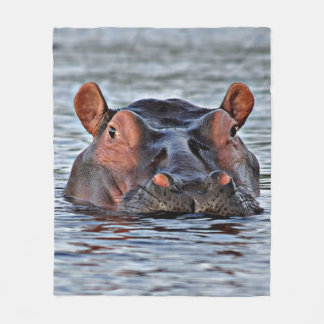 hippo fleece blanket