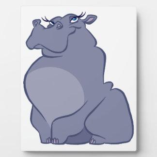 Hippo For Christmas Plaque