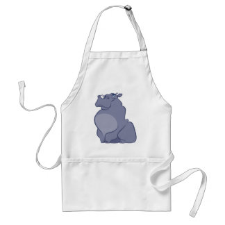 Hippo For Christmas Standard Apron
