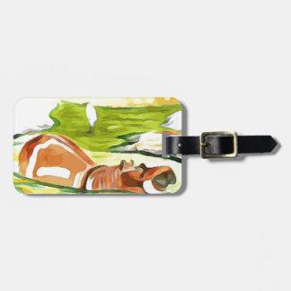 Hippo from Safari Luggage Tag