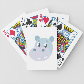 Hippo Head Bicycle Playing Cards