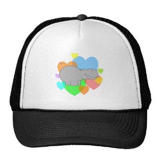 Hippo Hearts Mesh Hat