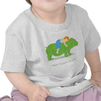 Hippo hugs t-shirts