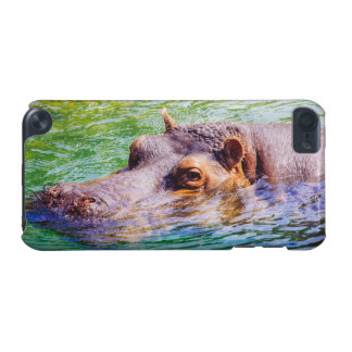 Hippo In Colorful Water, Animal Photography iPod Touch 5G Cases