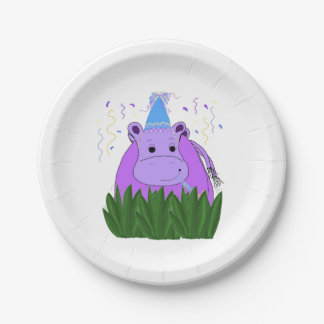 Hippo in the Grass Paper Plate
