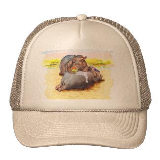 Hippo in the sun trucker hat
