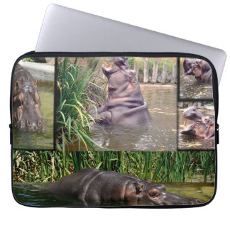 Hippo Photo Collage 13 inch Laptop Sleeve
