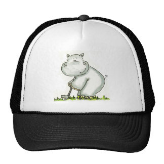 Hippo plays Golf Hat