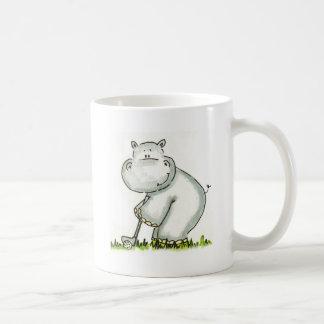 Hippo plays Golf Mugs